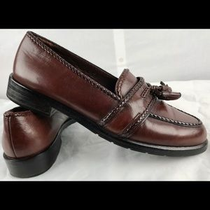 Cole Hann Tassel loafers women's 8b brown leather